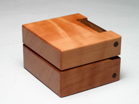 Ring Box made with wild service tree
